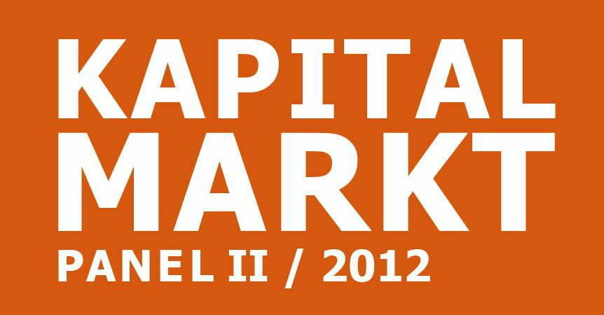 cometis AG Kapitalmarkpanel II 2012