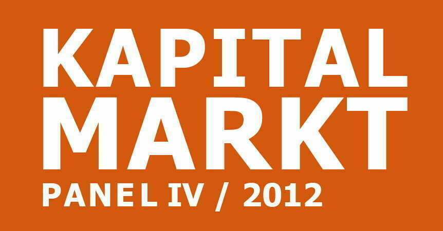 cometis AG Kapitalmarkpanel IV 2012