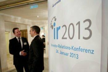 IR 2013, Konferenzen, IR Event von Finanzkommunikationsberatung cometis AG