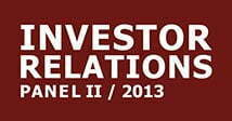 cometis AG Investor Relations-Panel I 2013