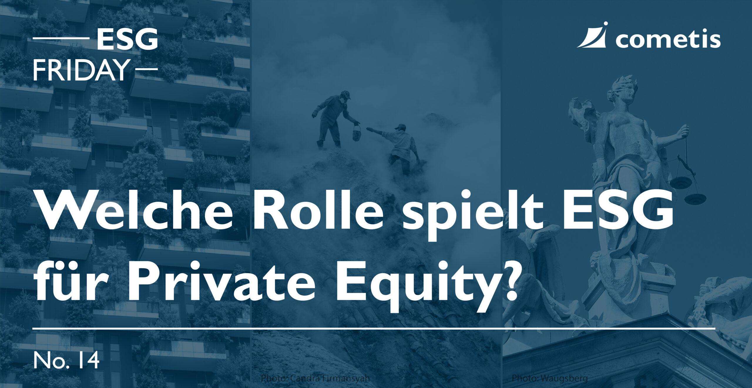 ESG Banner-Die Rolle von ESG für Private Equity