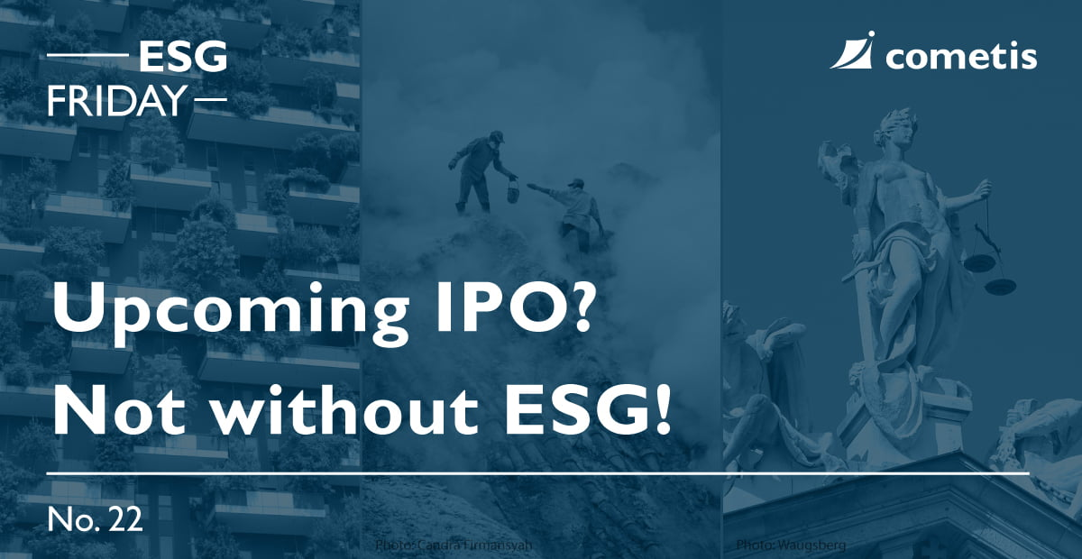 Upcoming IPO? Not without ESG!